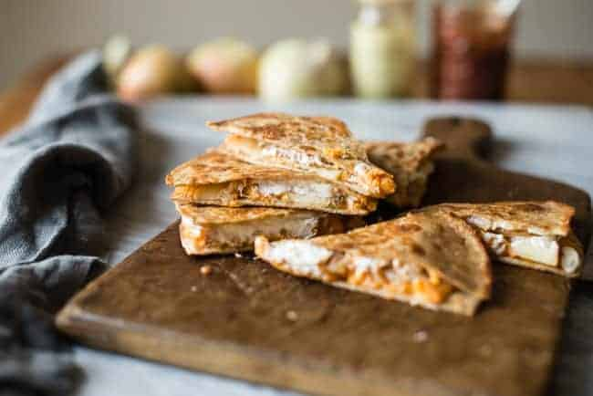 Sweet Potato Quesadilla with Goat Cheese and Apples | 101 Healthy Lunches
