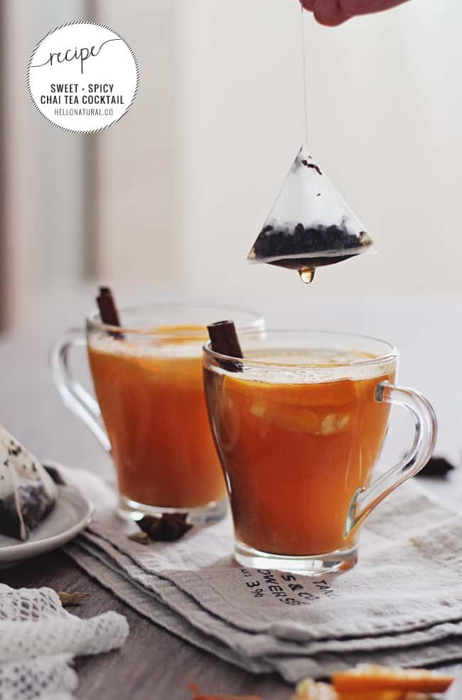 Sweet + Spicy Chai Tea Cocktail Recipe | HelloGlow.co