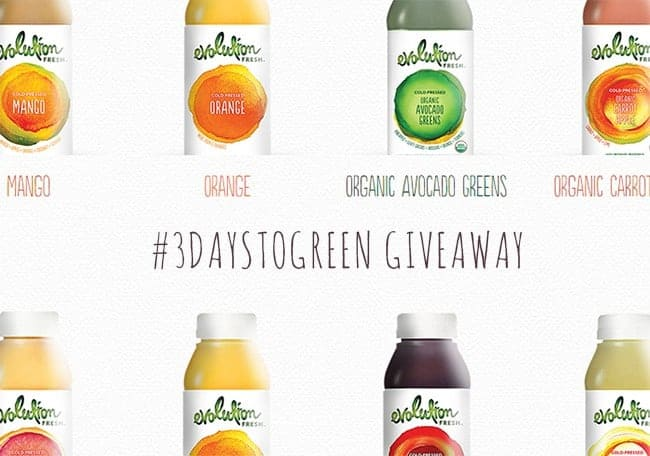 Evolution Fresh #3DaystoGreen Kit Giveaway | HelloGlow.co