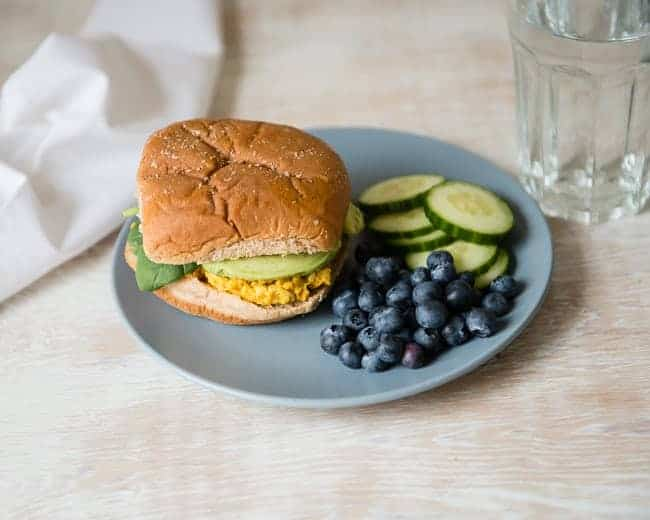 Mashed Chickpea Sandwich | 5-Day Lunch Plan