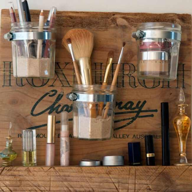 DIY beauty station | 15 Clever DIY Makeup Storage + Organization Ideas