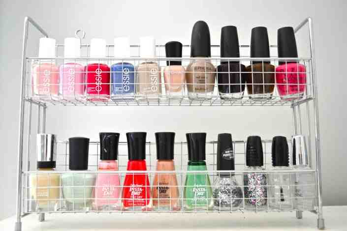 Nail Polish Organizer | 15 Clever DIY Makeup Storage + Organization Ideas