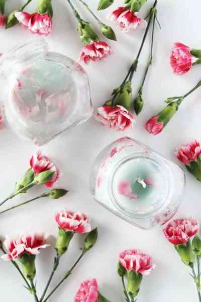 DIY Candles Floral Candle Flower Petals Glass Jars Mother's Day Gifts Home Accessories