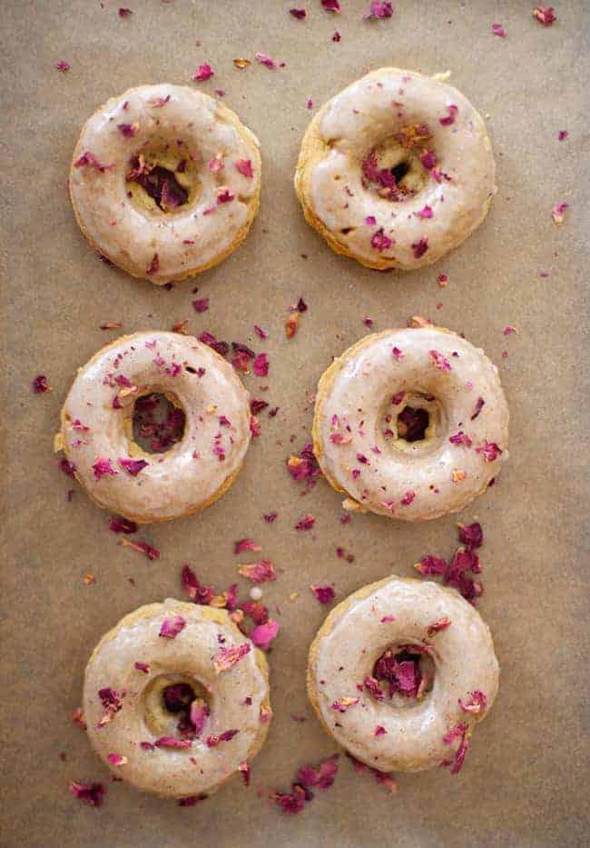 Cardamom + Rose Petal Baked Donuts