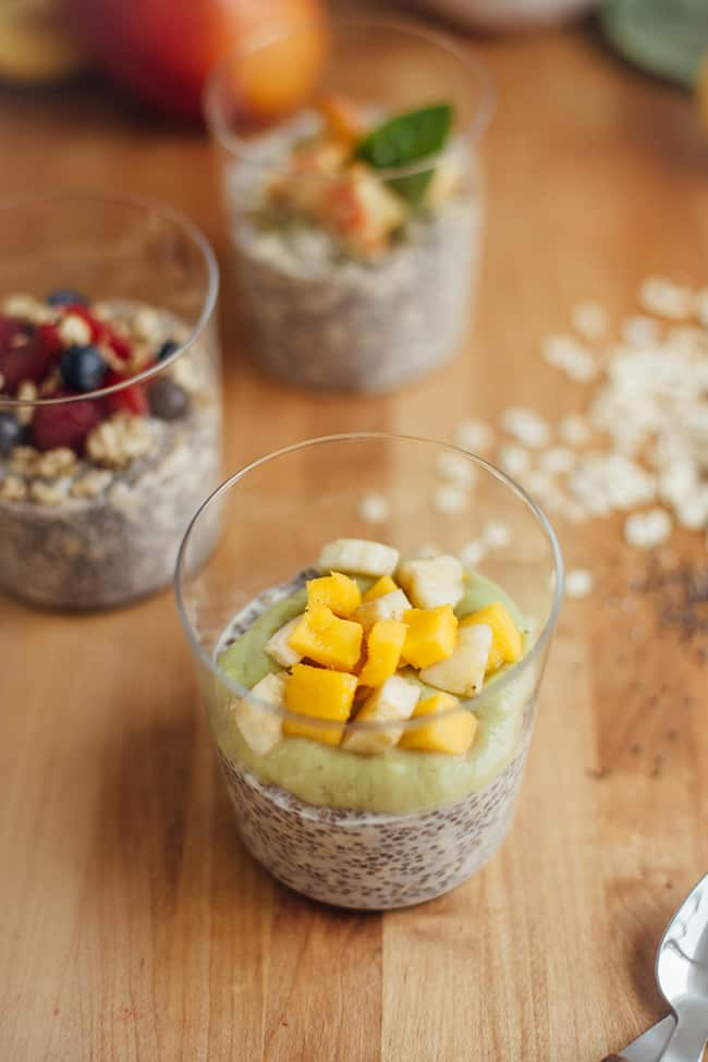 Tropical Overnight Chia Oats | 3 Overnight Oats Recipes with Chia Seeds