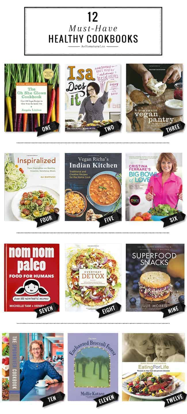 12 Must-Have Healthy Eating Cookbooks