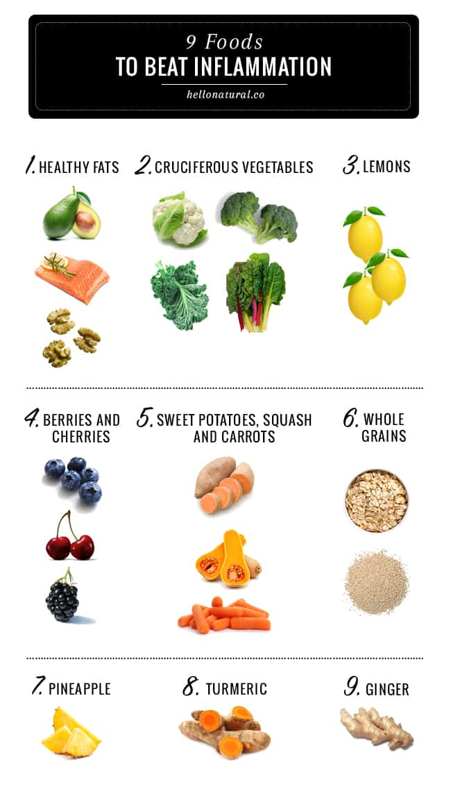 Fight Inflammation With These 9 Healing Foods Hello Glow