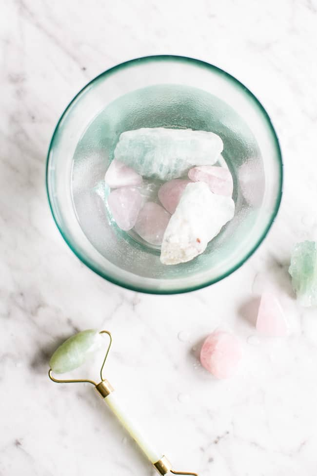 Aquamarine + Rose Quartz Beauty Water | 3 Ways to Use Crystals for Beauty