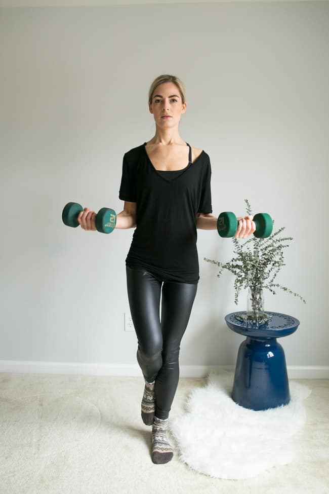 5 Moves for Toned Arms Using Weights - 1-Foot Bicep Curls