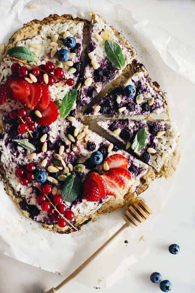 Breakfast Berry Pizza Recipe with Chickpea Crust