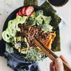 Inside + Out: Seaweed Sheet Mask + Deconstructed Sushi Bowl