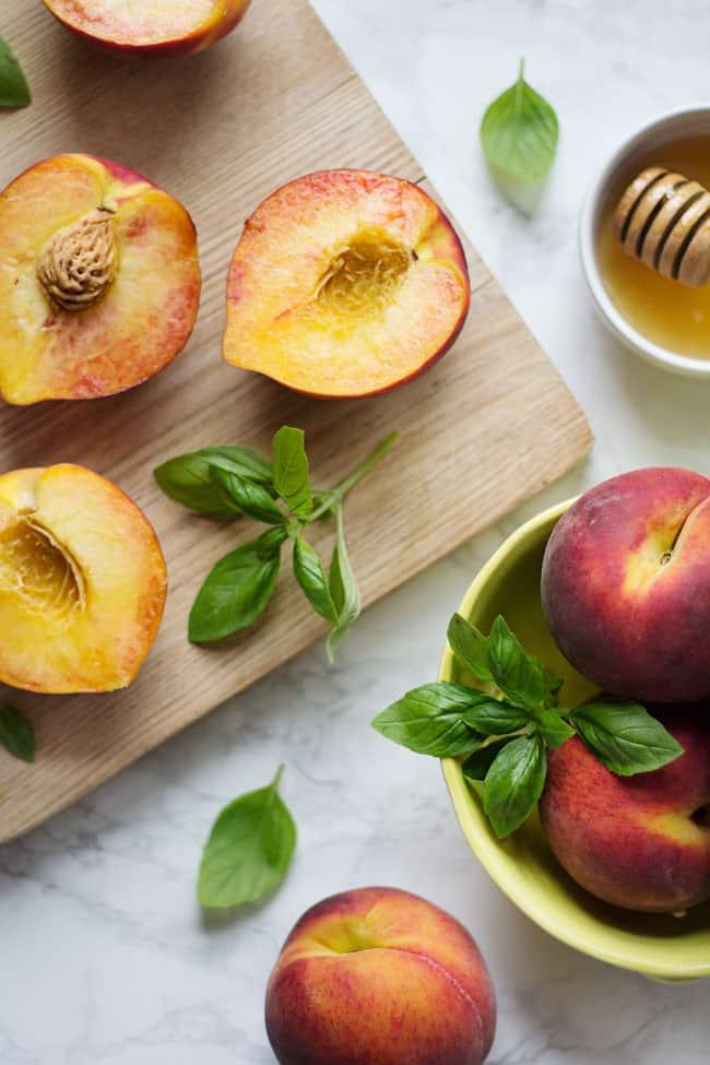 Peach Kombucha Sangria
