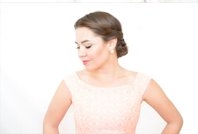Twisted updo by Birdie Shoots   10 No Heat Hairstyles