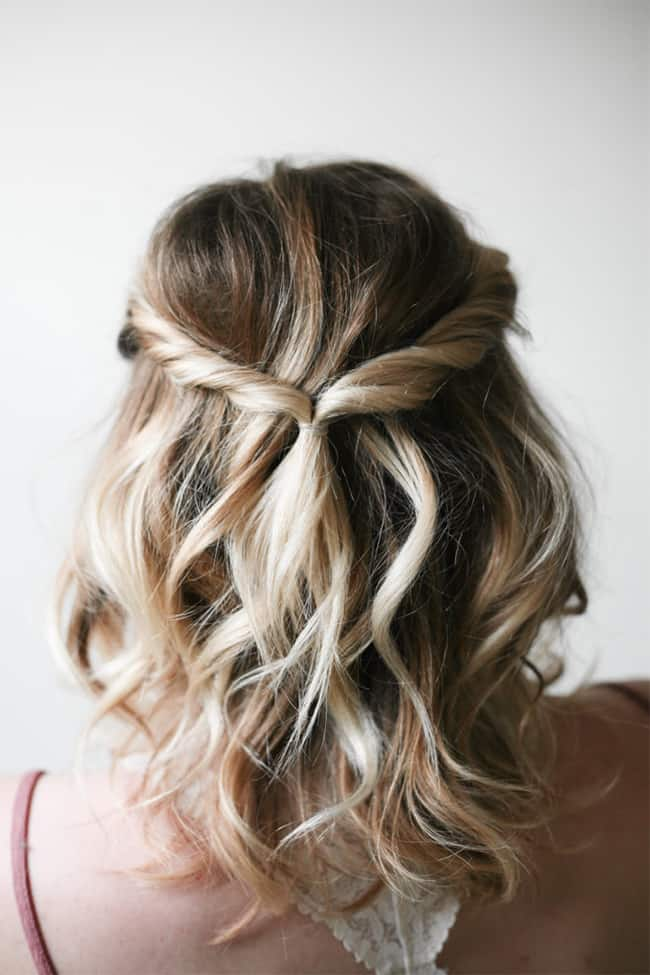 Simple twist hairdo by Say Yes   10 No Heat Hairstyles