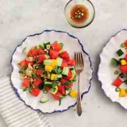 Cucumber Basil & Watermelon Salad