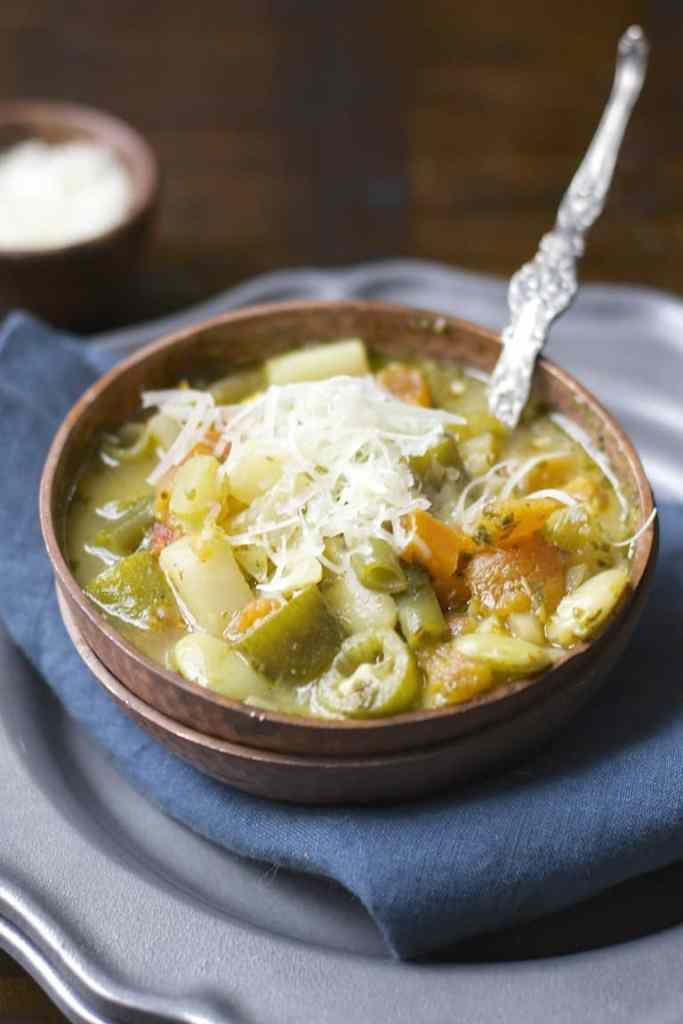 Pesto Veggie Orzo Soup by Maebells