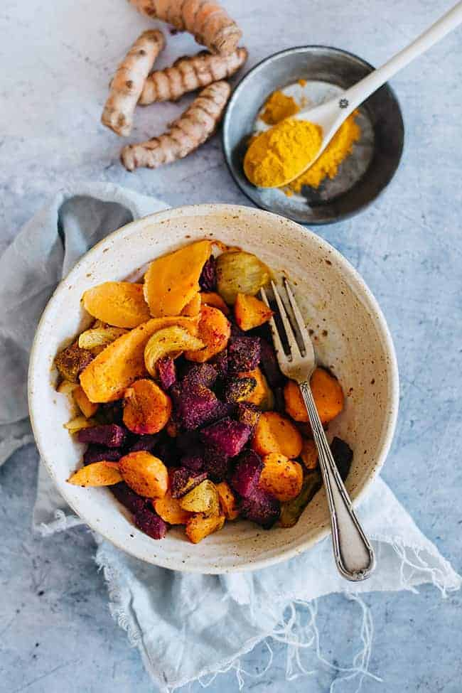 Roasted Vegetables with Turmeric