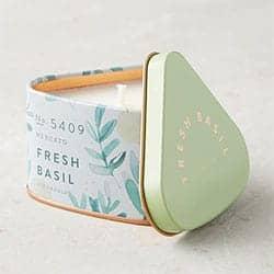 Mercato Fresh Basil Candle Tin