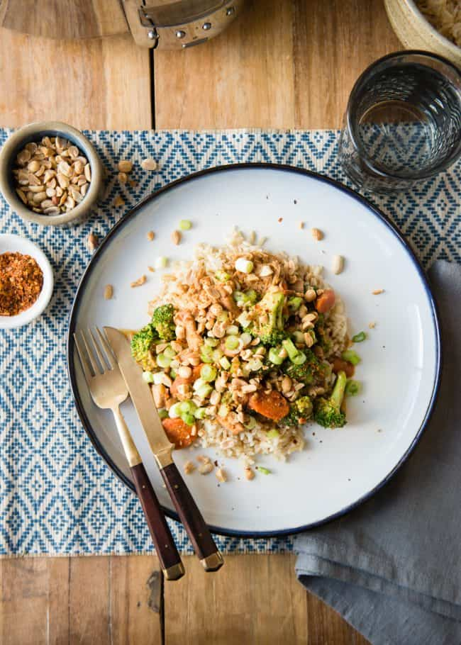 Slow Cooker Thai Peanut Curry