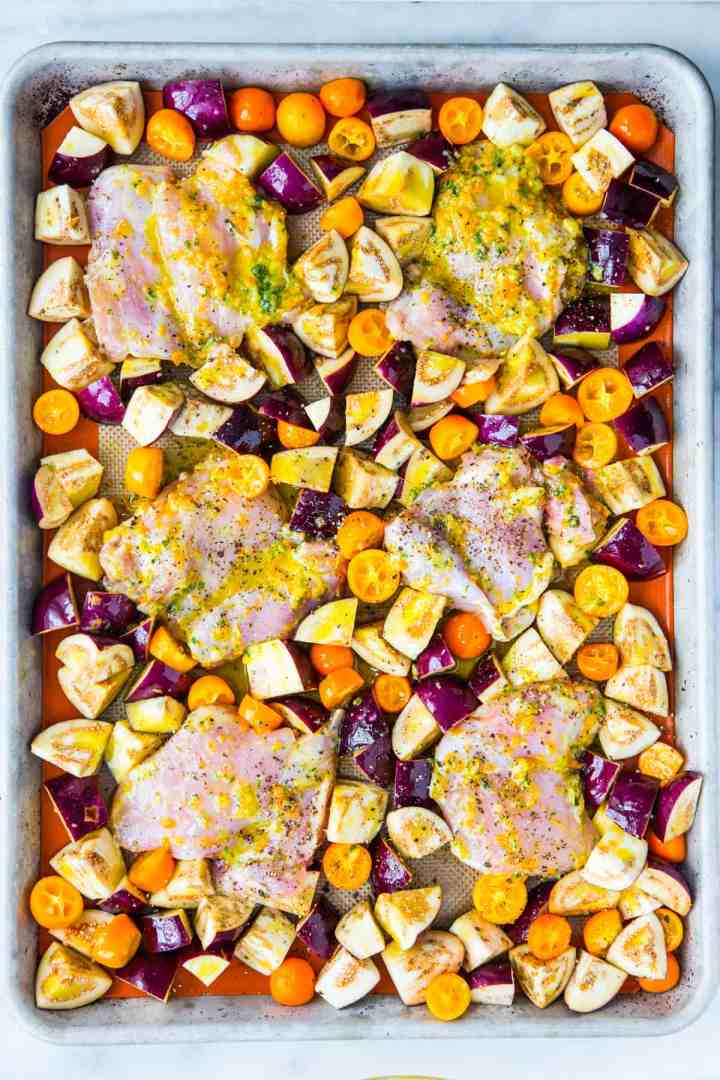 Clean-Out-Your-Fridge Sheet Pan Chicken