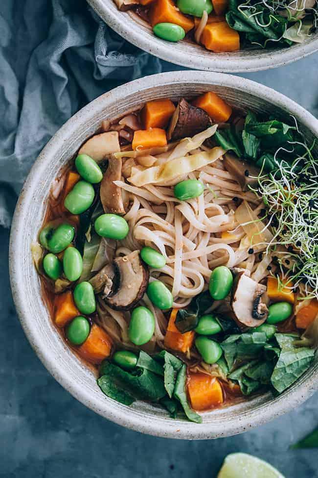 Edamame Soba Noodle Bowl