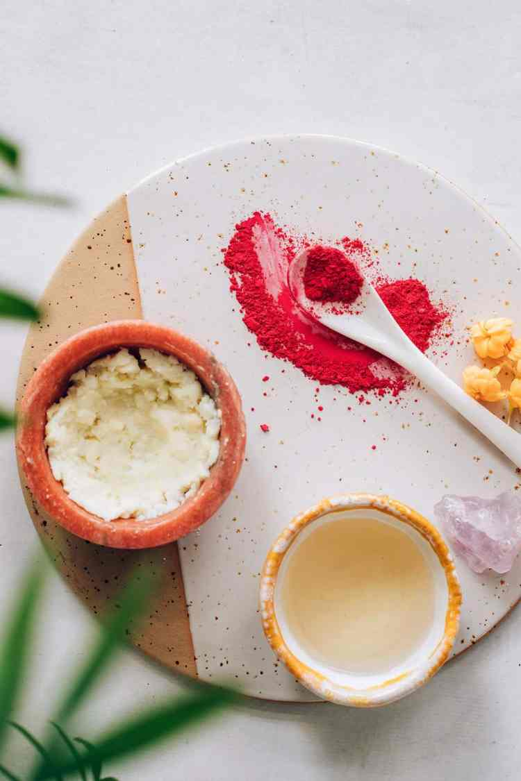 Ingredients for Creamy DIY Lip Stain
