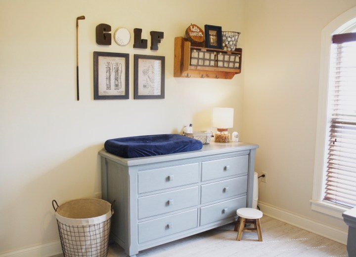 Hole In One Remodel: Baby Boy Nursery Styled By Hello GorJess