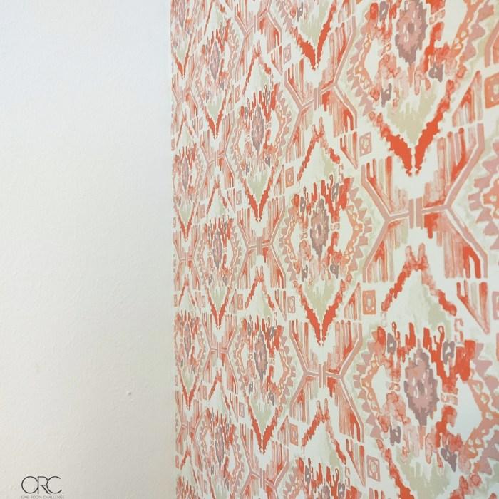 opalhouse coral ikat wallpaper #boho