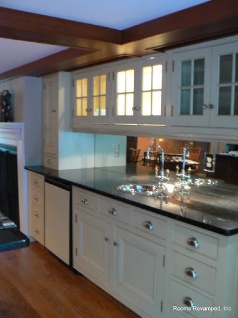 after we refinished the kitchen cabinets roomsrevamped.com