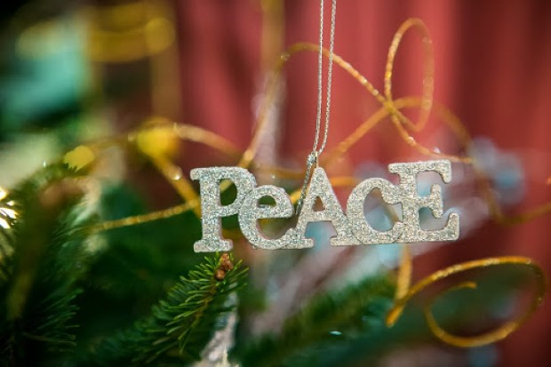 Christmas  Peace ornament by Robin LaMonte/Rooms Revamped Interior Design