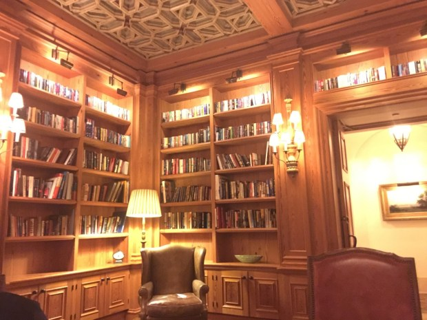 The library room below is where I enjoyed my morning coffee