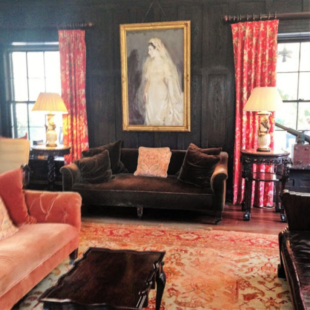 Living room at the Greyfield Inn on Cumberland Island