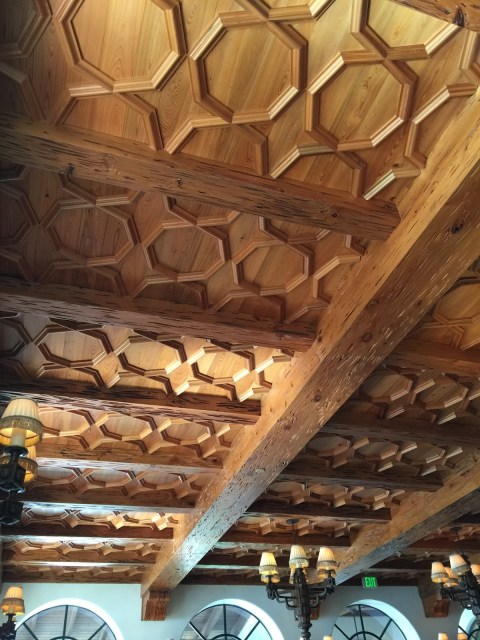 The ceiling in the River Bar