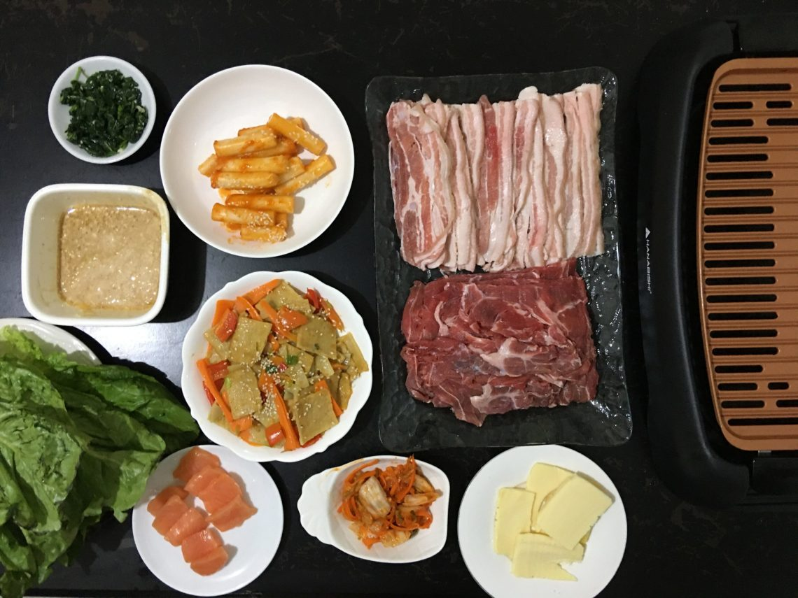 DIY samgyupsal + korean side dish recipes