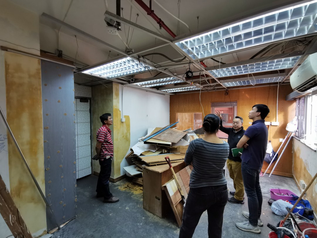 Office renovation project in North Point