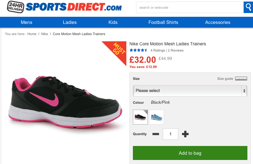 Nike Core Mesh Trainers, Sports Direct