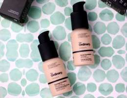 The Ordinary Serum and Full Coverage Foundations