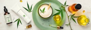 cosmetic cbd with marijuana plant