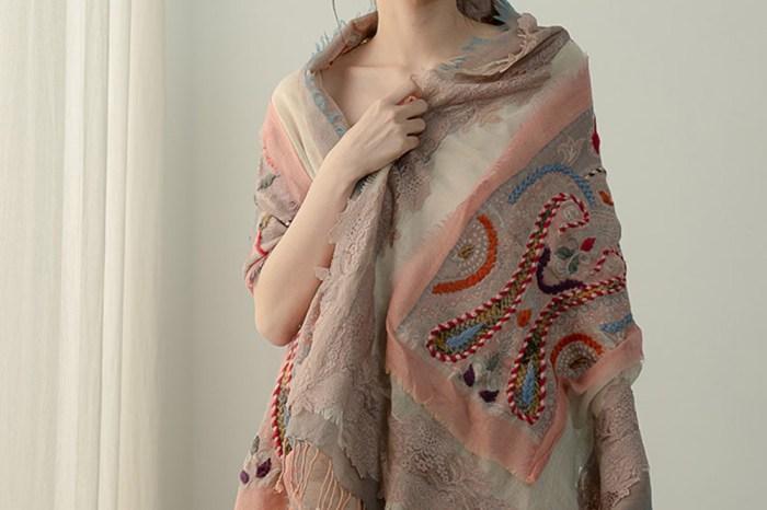 尼泊爾 羊毛精品|2款蕾絲水煮羊毛圍巾