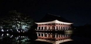 Gyeongbokgung de nuit
