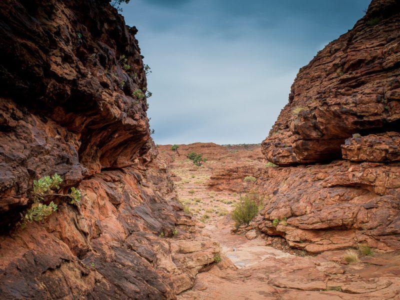 gorge de la rim walk à king's canyon