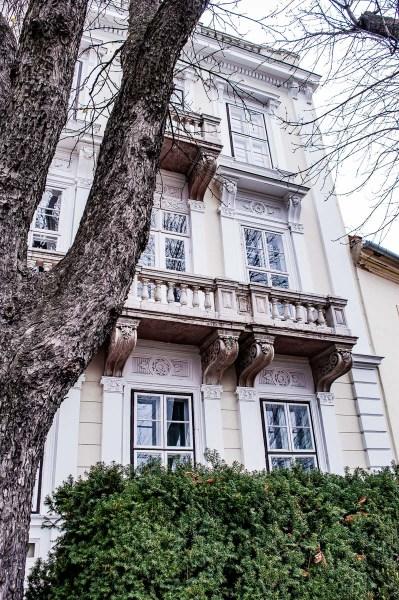 façade de maison à Buda