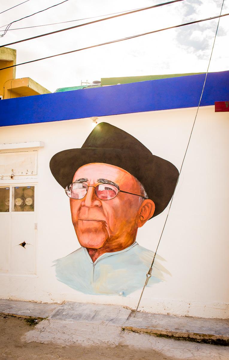 façade street art à holbox