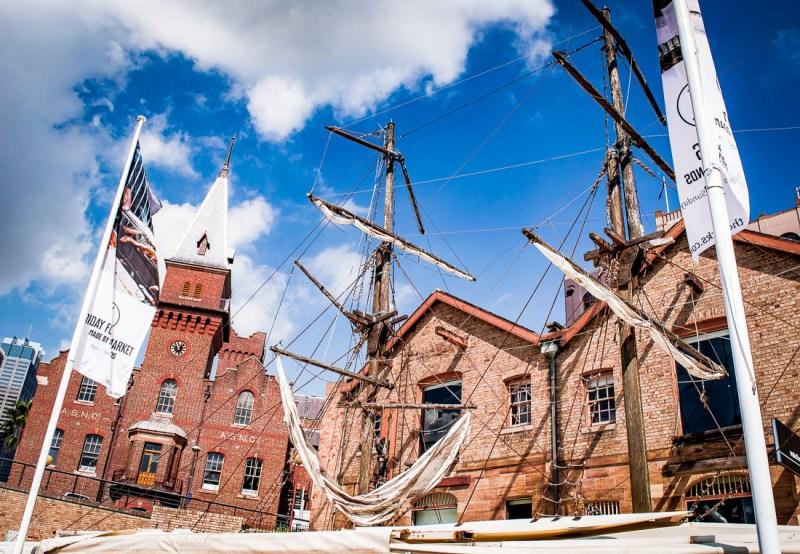 vieux bateaux en bois à Circular Quay