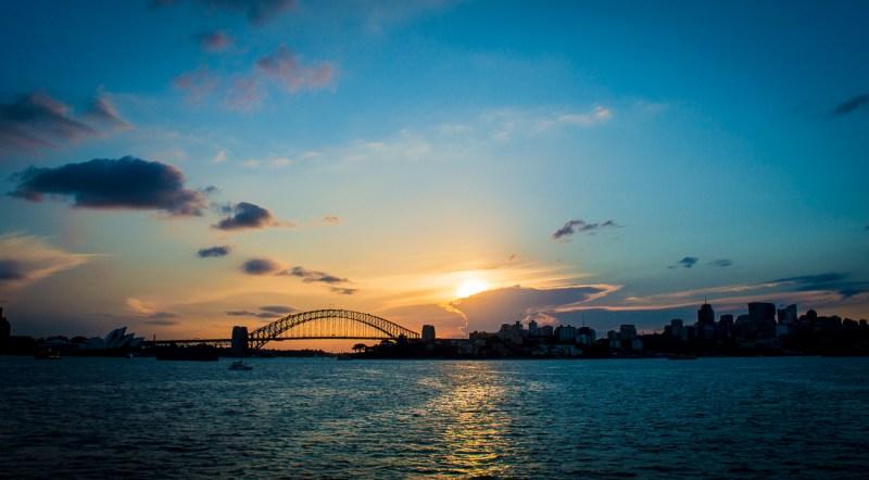 voir le coucher de soleil à Sydney