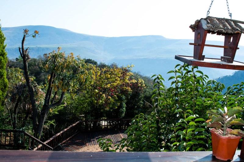 vue depuis l'hôtel Acra Mountain retreat en Afrique du sud