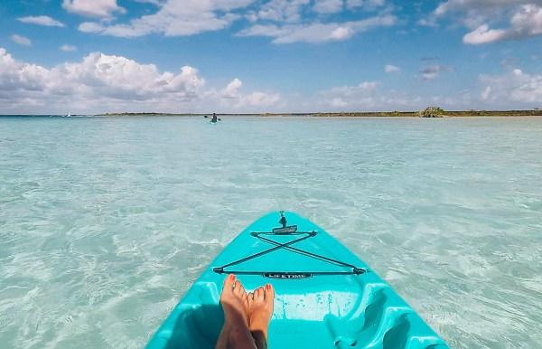 kayak sur la lagune de bacalar