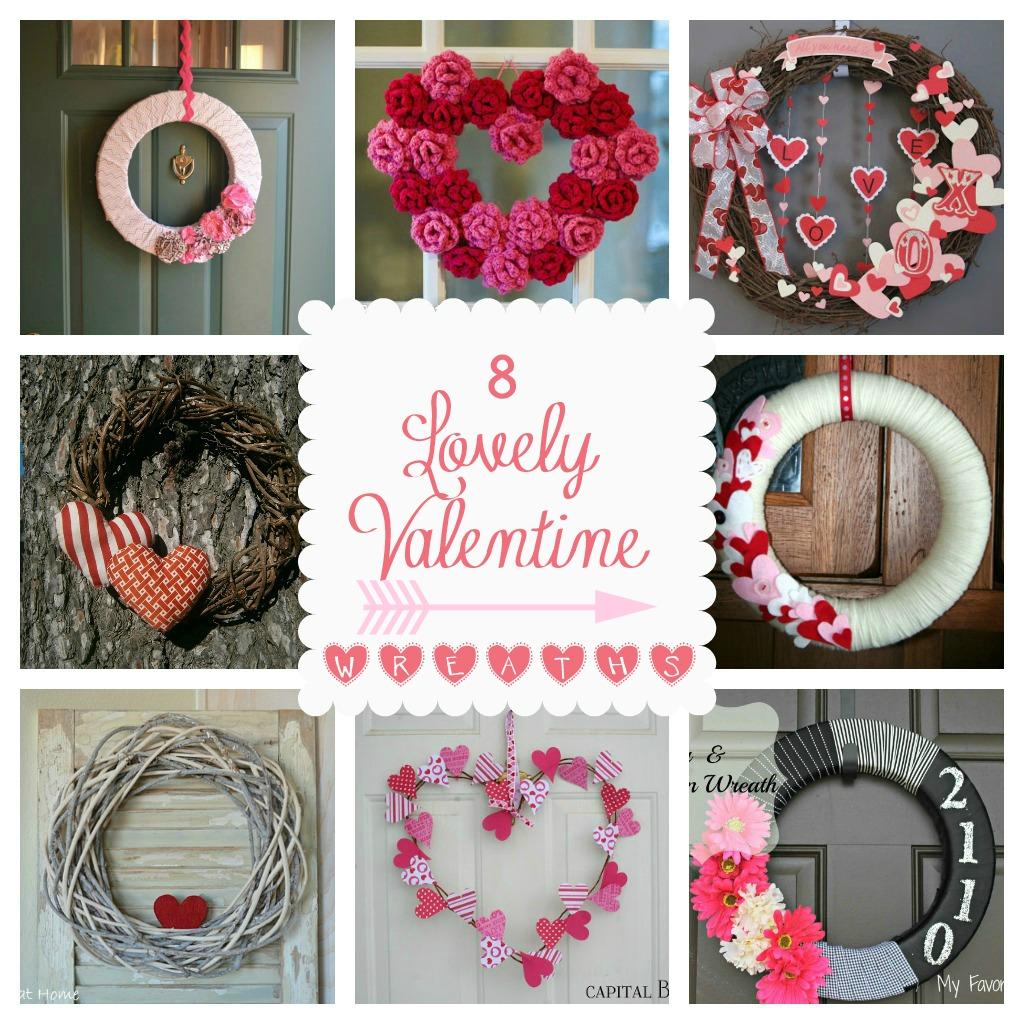 8 Beautiful Valentine Wreaths