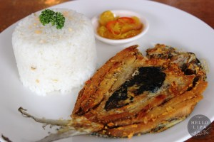 Fried Boneless Bangus with Garlic Rice