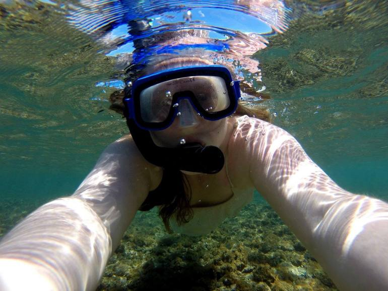 snorkling by Madeline Merlic